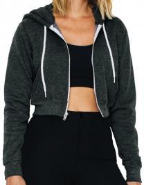 Women`s Flex Fleece Cropped Zip Hooded Sweatshirt