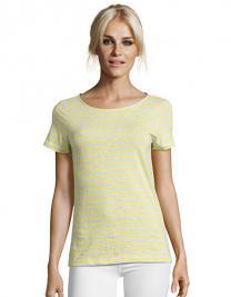 Women`s Round Neck Striped T-Shirt Miles