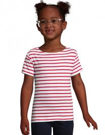 Kids` Round Neck Striped T-Shirt Miles