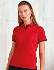 Ladies` Contrast Coolchecker® Polo